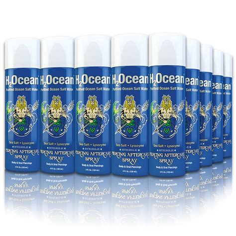 h2ocean tattoo care review h2ocean 4oz piercing aftercare spray 25 ct