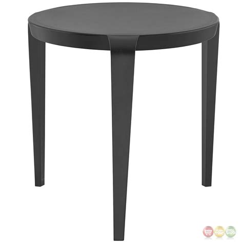 Plastic Side Table Spin Contemporary 3 Legged Plastic Side Table Black