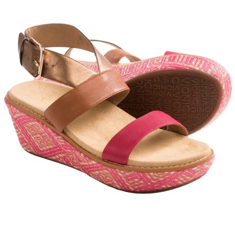 vionic with orthaheel technology cancun wedge sandals for save 73