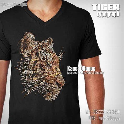 Laris Kaos Print Umakuka Tato gambar harimau macan nawasanga karakter cenderung agresif galak wibawa kuat naluri di rebanas