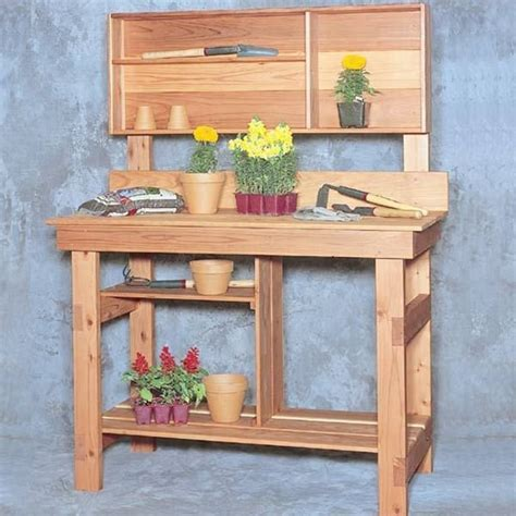 woodworking project paper plan to build potting bench