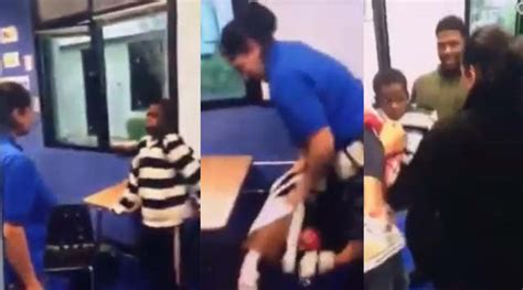 teachers aide arrested after video of attack emerges horrible teacher s aide attacks a nine year old special