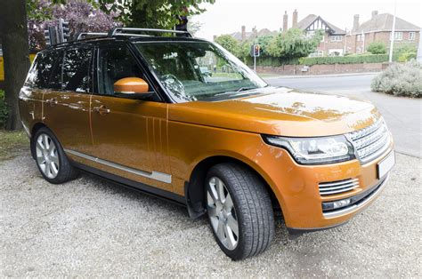 orange range rover range rover autobiography the laceby village motor car