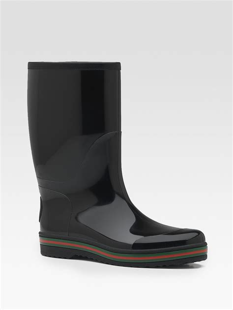 mens gucci boots gucci boot in black for lyst