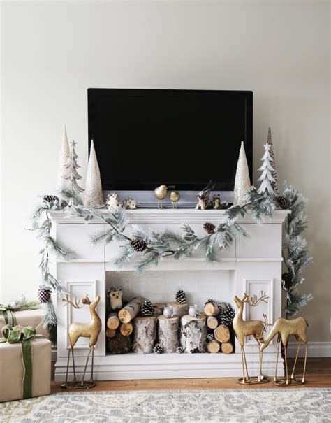 faux mantel fireplace home decorating trends homedit