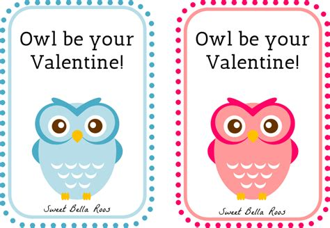 printable owl valentine cards free valentine s day printables sweet bella roos