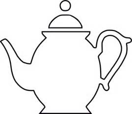 Teacup Outline Drawings by Teapot Black Outline Clip At Clker Vector Clip Royalty Free Domain
