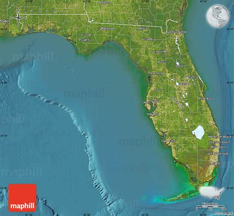 map of the united states satellite satellite map of florida