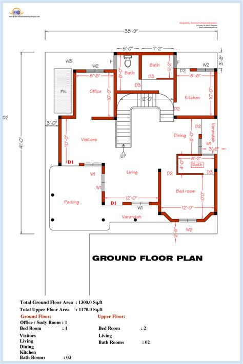 Floor Plans 3 Bedroom by 3 Bedroom Home Plan And Elevation Kerala House Design