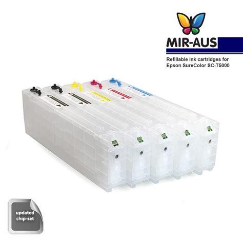 Tinta Isi Ulang Cartridge Cartridge Isi Ulang Tinta Untuk Epson Surecolor Sc T5000
