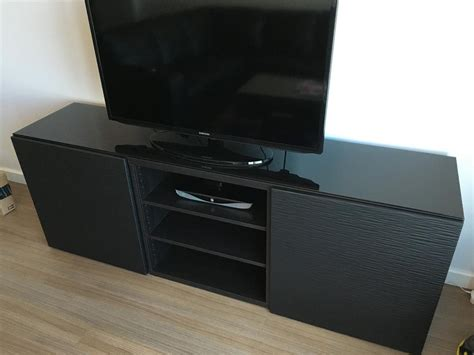 ikea besta media center ikea besta media center 3 cabinet black glass top for sale in san francisco ca