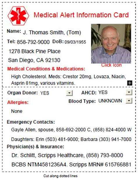 med card template 8 reasons why you need a free alert card