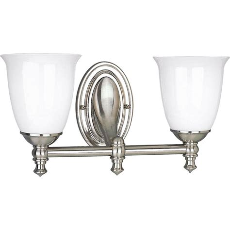 Brushed Nickel Light Fixture Progress Lighting Gather Collection 5 Light Brushed Nickel Vanity Fixture P2713 09 The Home Depot