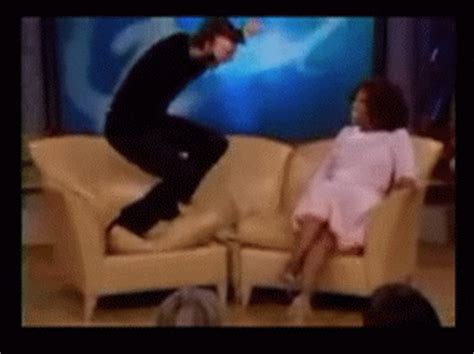 tom cruise couch jump kanye west jokes about having a tom cruise jump up on the couch moment on ellen huffpost
