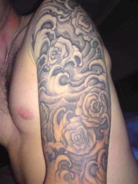 wave tattoo quarter sleeve celtic love hope sleeve tattoo roses waves half sleeve