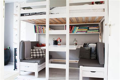 good loft beds with desks underneath greenvirals style