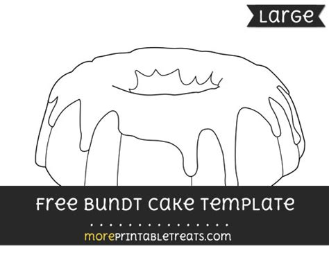 bundt cake template large