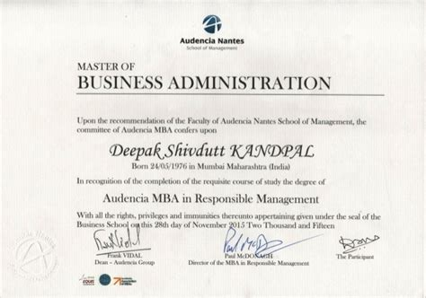 Audencia Mba by Audencia Mba In Responsible Management Certificate