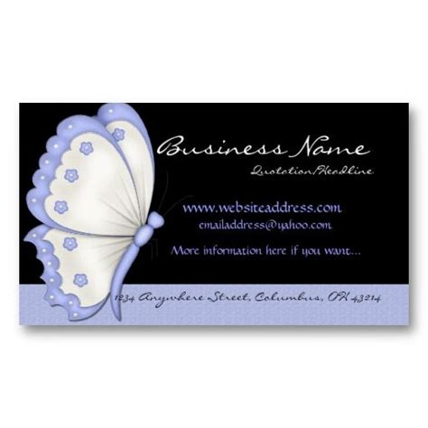 Butterfly Business Card Template by 17 Best Images About Business Cards Animal Non Pet On