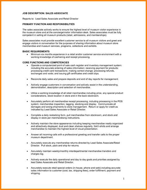 resume for retail jobs manager job description creer pro
