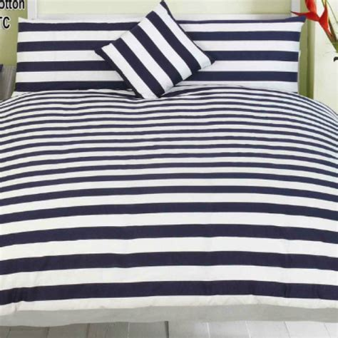 blue stripe comforter navy blue and white striped bedding beautyy pinterest