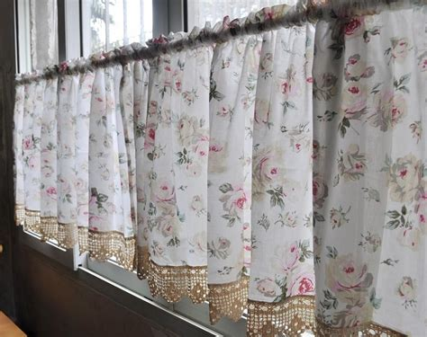 french country curtains for kitchen french country floral rose cafe kitchen curtain 007 ebay