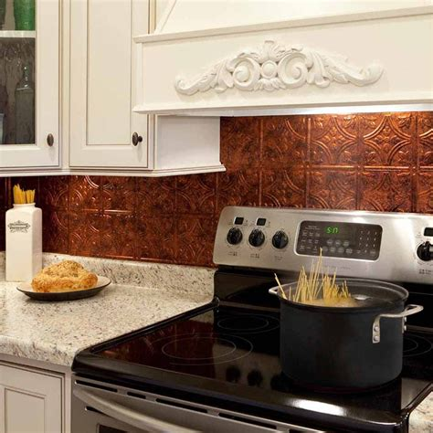 Fasade Kitchen Backsplash | fasade backsplash traditional 1 in moonstone copper