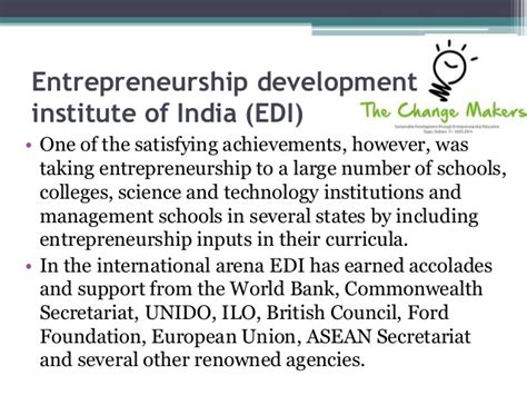 Entrepreneur Mba Colleges In India by Institutions In Aid Of Entrepreneurs