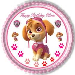 paw patrol skye 2 edible birthday cake cupcake topper edible prints cake epoc