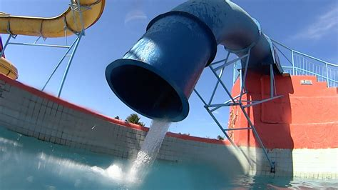 how to make a water slide in your backyard strange drop water slide at veneza water park youtube