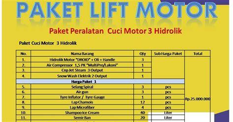 Paket Peralatan Usaha Cuci Mobil 5 Hidrolik Type X Berkualitas hidrolik car wash paket cuci motor 3 hidrolik
