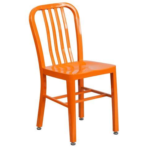 indoor outdoor metal dining chair in orange ch 61200 18
