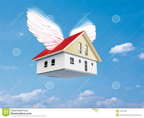 wings house flying house stock photography image 16931382