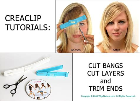 tutorial on cutting bangs creaclip tutorials cutting bangs layers and trim ends