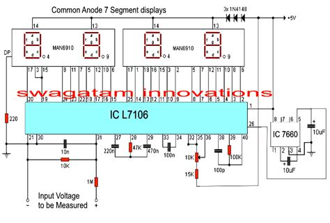 voltmeter in circuit diagram make this simple digital voltmeter circuit using ic l7107