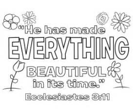 ecclesiastes 3 11 coloring page whats in the bible