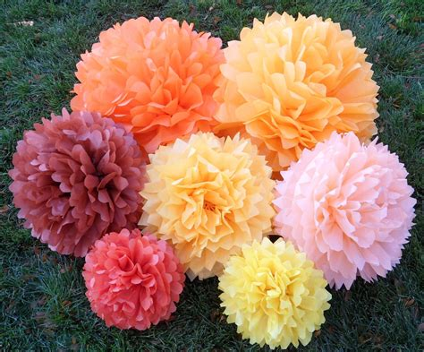 colorful how to make pom poms out of tissue paper