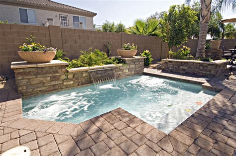 Small Backyard Swimming Pools Inground Pool For Small Backyard Backyard Design Ideas