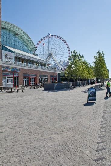 Unilock Chicago navy pier with promenade plank paver in series3000 finish in chicago photos