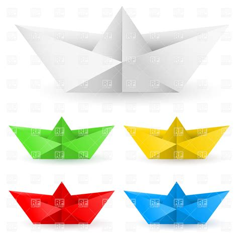 Origami Clipart - origami paper boats 7506 travel royalty free