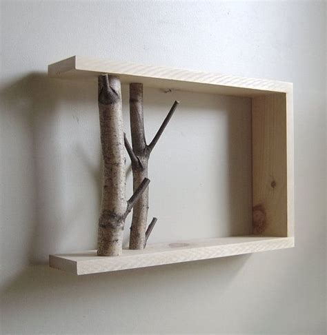 tree branch shelf by forgetaboutme c in the woods