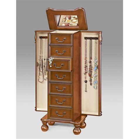 tunis jewelry armoire jewelry armoires bedroom furniture the home depot