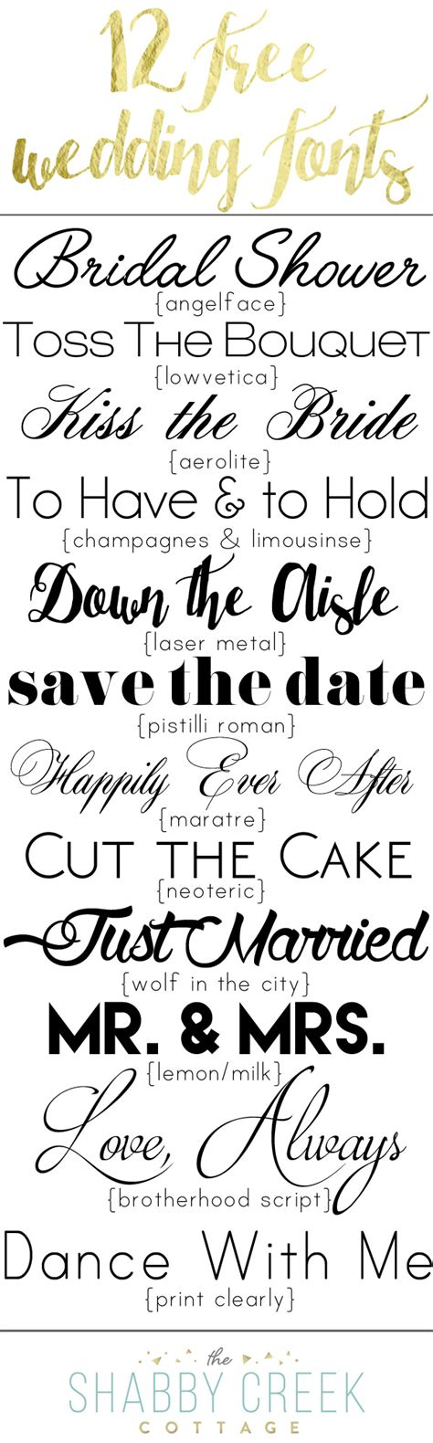Wedding Font Tutorial by Wedding Fonts 12 Free Fonts For Personal Use