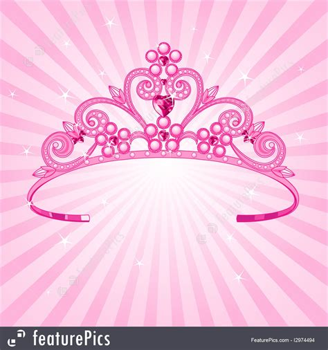 fashion accessories princess crown stock illustration