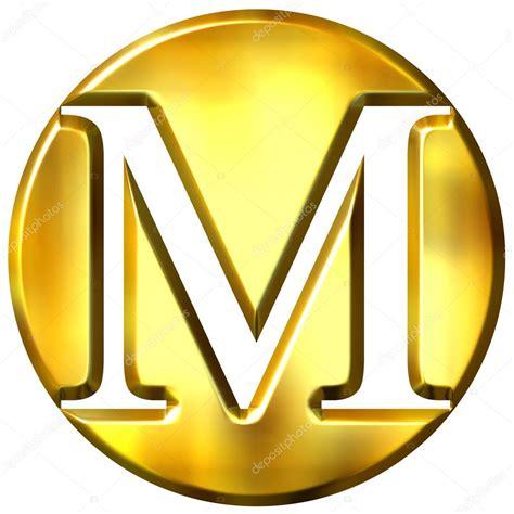 le lettere pi禮 d 3d golden letter m stock photo 169 georgios 1394723