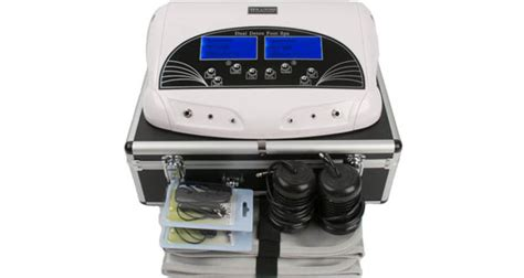 Zen Living Foot Detox Machine by Professional Dual Lcd Ionic Cell Detox Foot Cleanse Bath