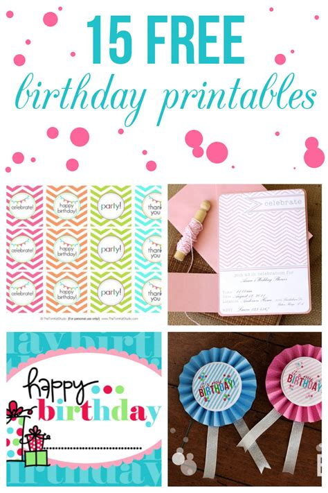 printable party decorations birthday 15 free birthday printables i heart nap time