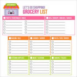 Shopping Lists Template by Shopping List Template 11 Documents In Pdf Word