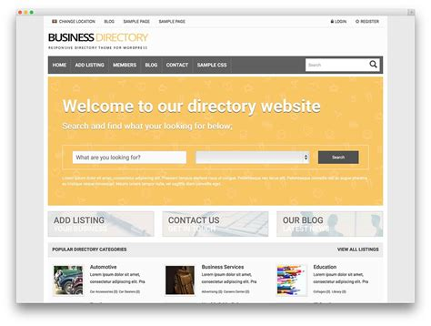 business directory template business directory website template sanjonmotel