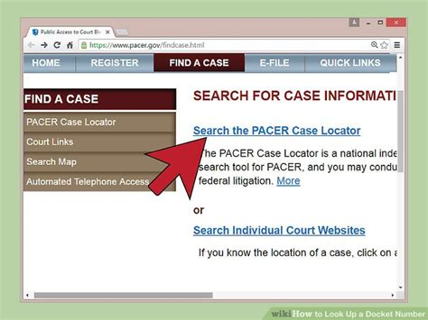How To Search A Court Number How To Look Up A Docket Number With Pictures Wikihow